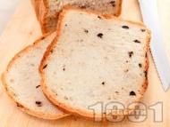 Рецепта Домашен хляб с маслини за хлебопекарна (със суха мая)